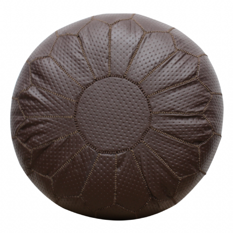 Moroccan Pouffe Pouf Ottoman Footstool COVER ONLY or STUFFED Contemporary Brown Faux Leather